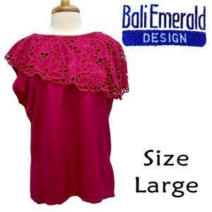 Bali Emerald Designs Hot Pink Lace Cutout Size L